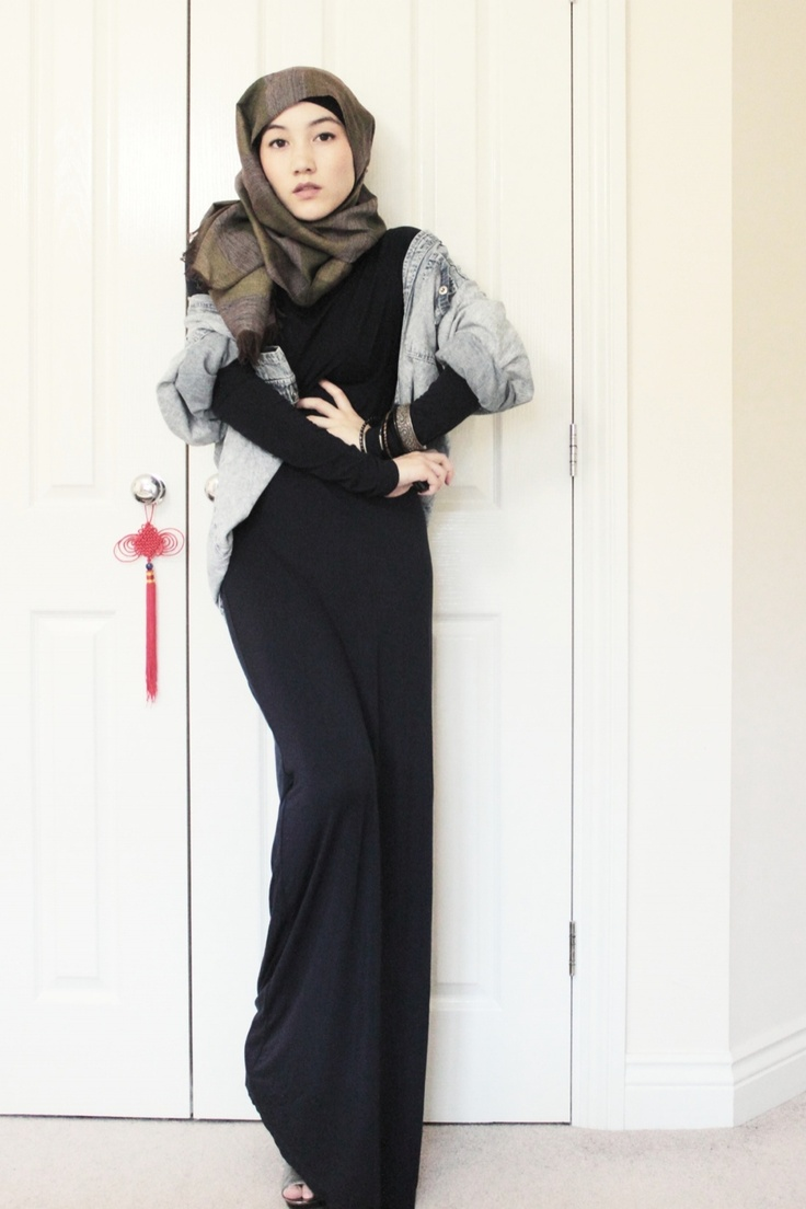 Maxi Dress Layers and Another Day for Denim | Hana Tajima