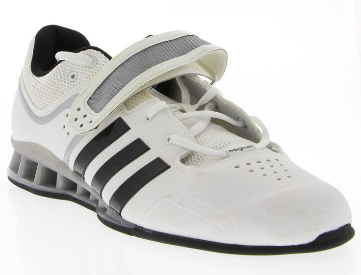 Mens ADIDAS Black & White Synthetic Weight Lifting Shoes Size 15