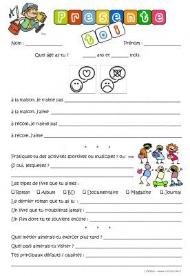 La  rentrée - introducing yourself - first day of school presentation