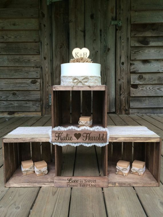 Rustic Wedding Cupcake Stand  Rustic Cupcake by TheRusticOwlShop
