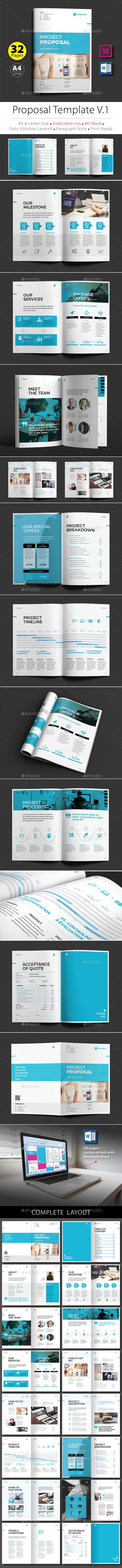 cover letter for bid proposal%0A Proposal Design Template V   Features A       mm x     mm