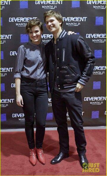 Veronica Roth and Ansel Elgort ~Divergent~ ~Insurgent~ ~Allegiant~