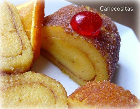Típico dulce portugués: Brazo de gitano con textura entre un pudding y bizcocho. Ideal para una estupenda merienda.