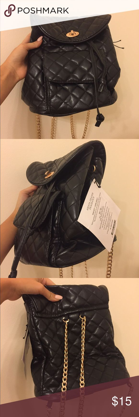Exclusive Ariana Grande Bag this is the bag that comes with a $45 purchase of ariana's fragrance. get it by itself here! it is cute, trendy, and expensive looking. has never been used and has absolutely no signs of wear. Ariana Grande Bags Backpacks
