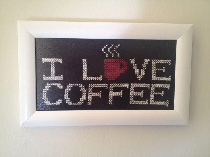 KANAVİÇE ( cross stitch ) kahve aşkı