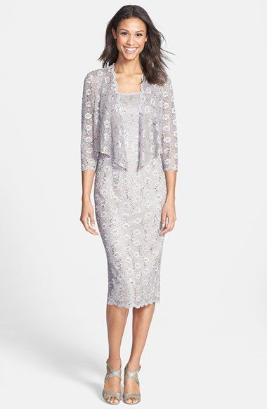 Cocktail dress with lace jacket