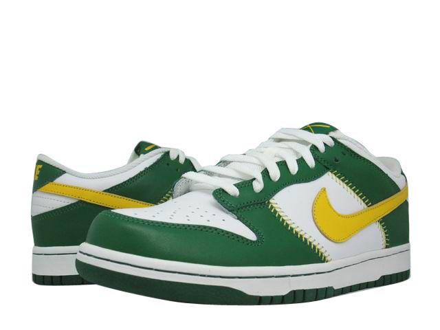 Nike Dunk Low Baseball Pack Oakland Athletics ナイキ ダンク ロウ ベースボールパック オークランド・アスレチックス 白緑黄 309431-171