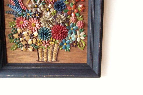 Wood Flower Wall Art