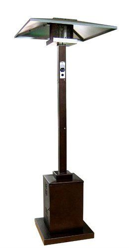 AZ Patio Heaters HS-HG Tall Commercial Patio Heater, Hammered Bronze by AZ Patio Heaters. $254.25. Wheels for easy mobility. Hammered Bronze powder coated finish. Hiland 91-Inch tall commercial patio heater. Gas type: Propane, butane Heat output: 38,000 BTU's. 91-Inch tall commercial grade patio heater with hammered bronze finish. 41,000 BTU's, variable control, electronic striker switch, wheels for easy mobility. Thermocouple and anti-tilt safety devices. Regulator...