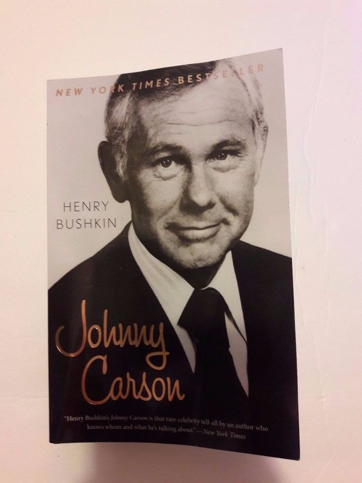 Johnny Carson by Henry Bushkin Biography TV Late Night Talk Show Host PAPERBACK