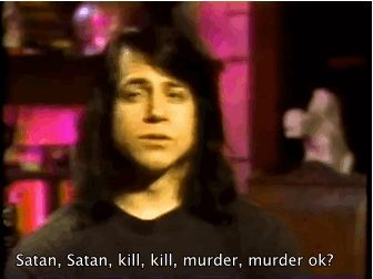 He hates when people refer to him as satan. - danzigsgirl.