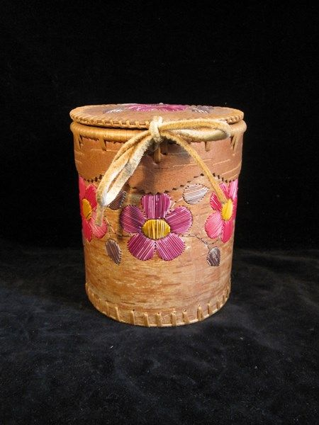 Special Interest & Jewelry  Subscribe to our feed. rss feed icon   Dene First Nations native Birch bark and Porcupine quill cylindrical shaped hand make covered basket. - $75  This fantastic Birch bark and Porcupine quill basket is in wonderful condition. With nice coloring on the Porcupine quill and beautiful workmanship.   This is a fully functional and timeless Dene cylindrical Birch bark basket. That would make a wonderful addition to any collection.