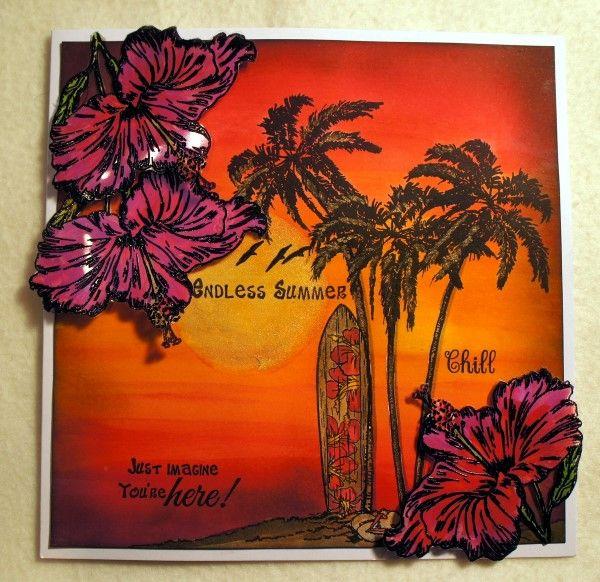 Sheena's A Little Bit Sketchy EZMount Stamp Set - Tropical Nectar