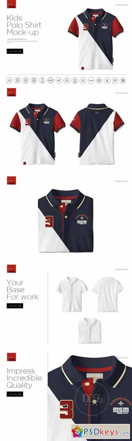 Kids Polo Shirt Mock-up 394507