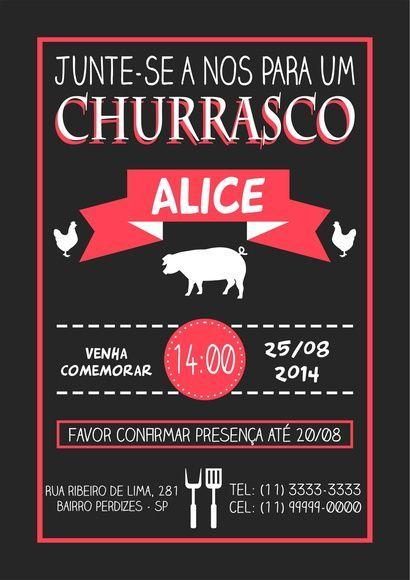 Arte Convite Churrasco 001: