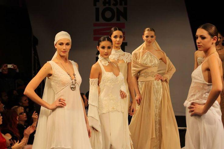 FASHION IN ACTION Garavani Oscar e Riccardo Gubbiani  AltaModa AltaRoma Fashion Action collezioni di Marina mansanta, Istituto Cordella fashion school, Emanuela Conte e Chiara Banelli