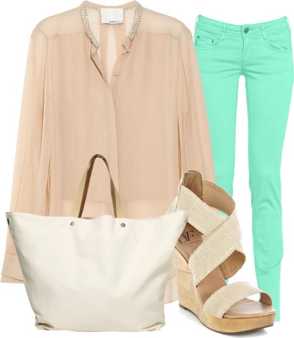 summer: Mint Pants, Mint Green, Color Combos, Dream Closet, Mint Jeans, Color Jeans, Mint Skinny, Color Pants, Green Pants
