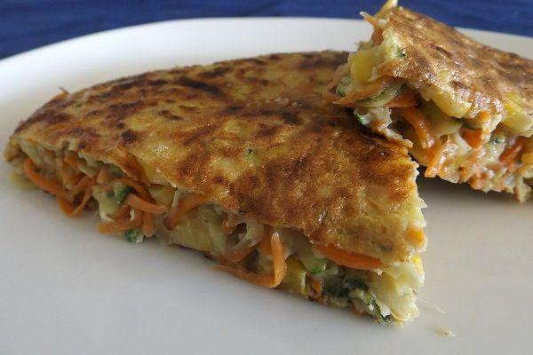 Receta: Tortilla de zanahoria, zapallo italiano y choclo | Recetas Saladas | cookcina