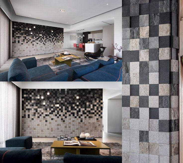 25+ parasta ideaa Pinterestissä Wandgestaltung wohnzimmer - tapetenmuster wohnzimmer modern