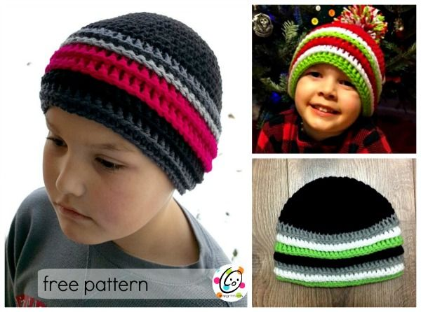 """Last Valentine's Day I made a long tail baby hat for a friend's new baby. The Jazlyn Hat has been really popular and many have asked for a regular beanie version in multiple sizes. """"Jake's Beanie"""" includes the same layered rounds I really love. Jake's Beanie Click HER"""