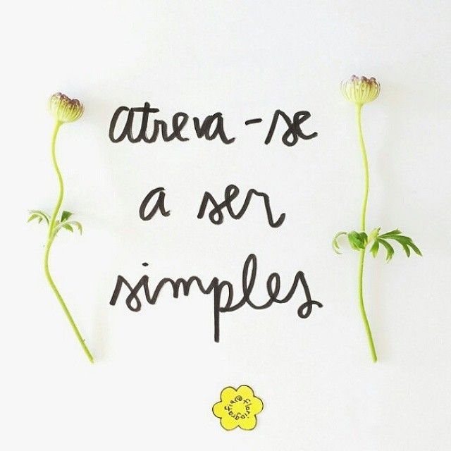 Dare to be simple