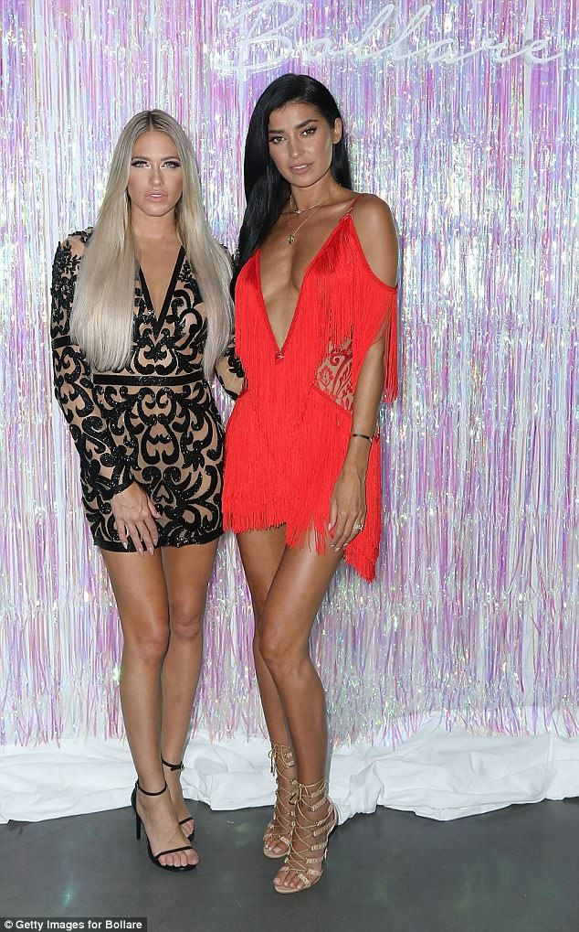 Party girls! Barbie Blank Souray and Nicole Williams look ready to party Miami style for their night out at the launch
