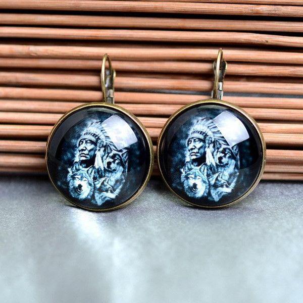 Glas Ohrringe lieben ,indisch gold 25 von Schmuck auf DaWanda.com
