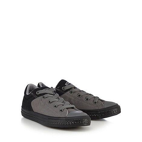 Converse Boys' dark grey trainers | Debenhams