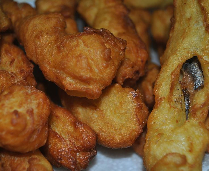 Zeppole stuffed with Anchovies - Calabrese Zeppole Recipe