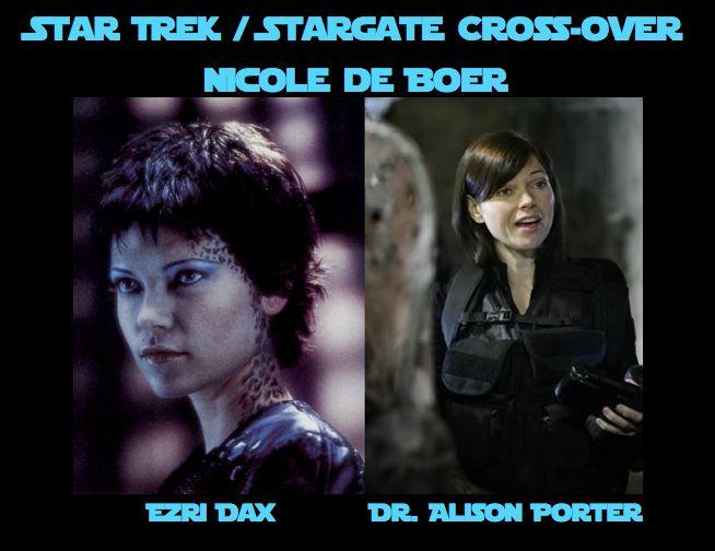Nicole de Boer [as Ezri Dax & Dr. Alison Porter] #StarTrek #DeepSpace9 #StargateAtlantis