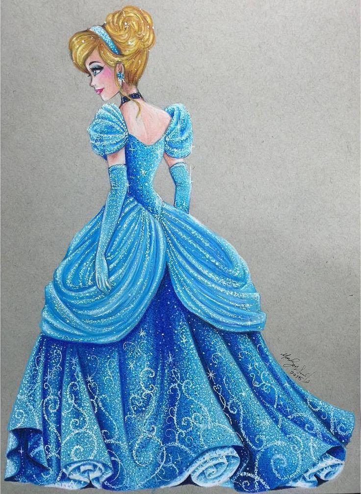 Cinderella - Disney Princess Drawings by Max Stephen