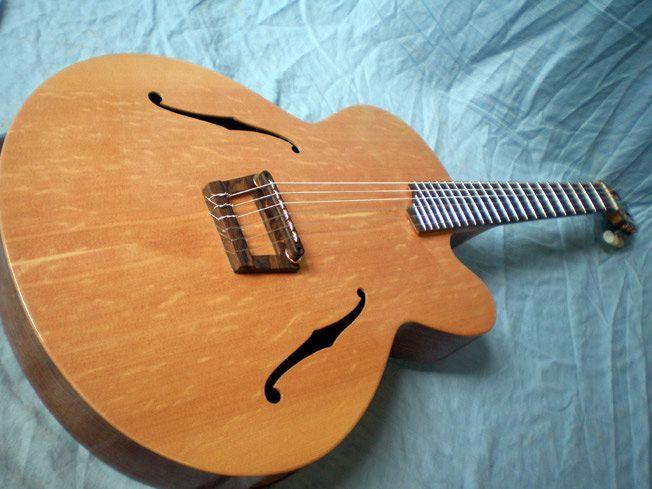 daniel slaman guitars dome fb nylon string archtop jazz guitar other instruments worth noting. Black Bedroom Furniture Sets. Home Design Ideas