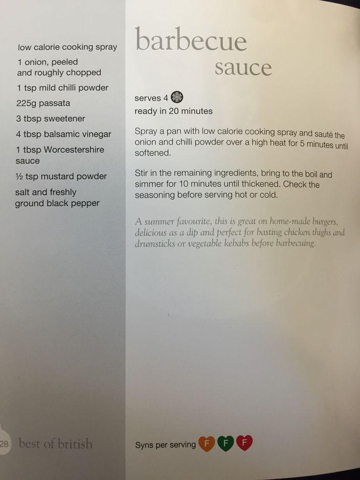 Slimming world BBQ Sauce