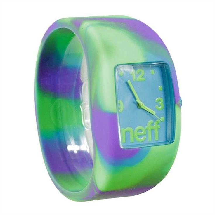 NEFF BANDIT PSYCH SWIRL WATCH    £29.95     Buy Here: http://www.blacksheepstore.co.uk/neff-bandit-psych-swirl-watch.html