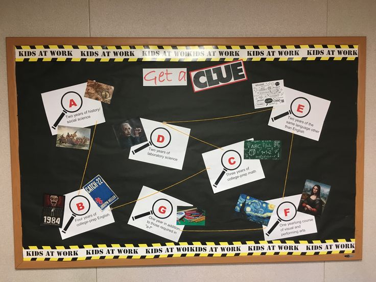 A - G California state university college requirements. Clue visual representation of requirements. Classroom bulletin board. High school. Middle school. Board game. Teen center.