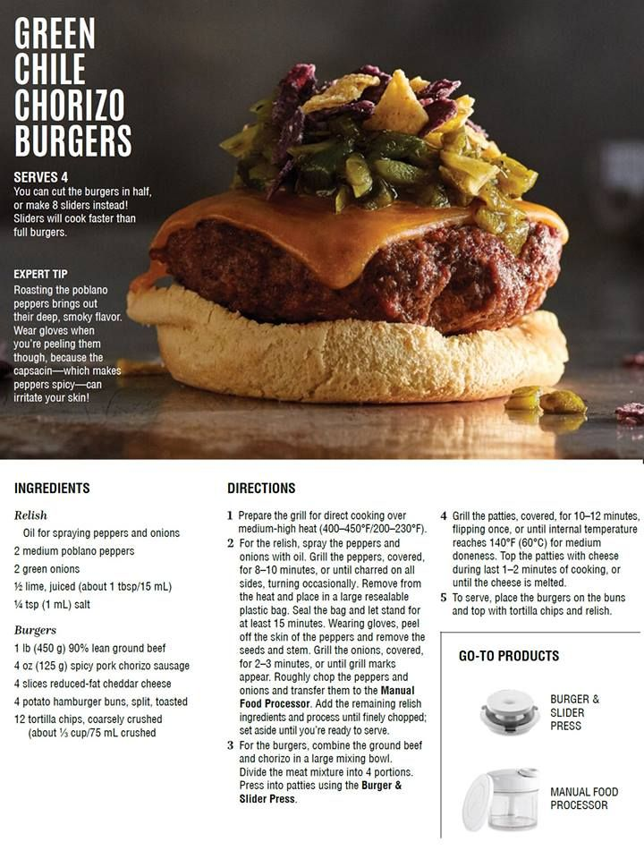 Want to add a zip to your burgers? Try this Chorizo Burger!! Purchase products used in this recipe by going here: https://www.pamperedchef.com/pws/judye/shop-landing-page or clicking on the burger image.