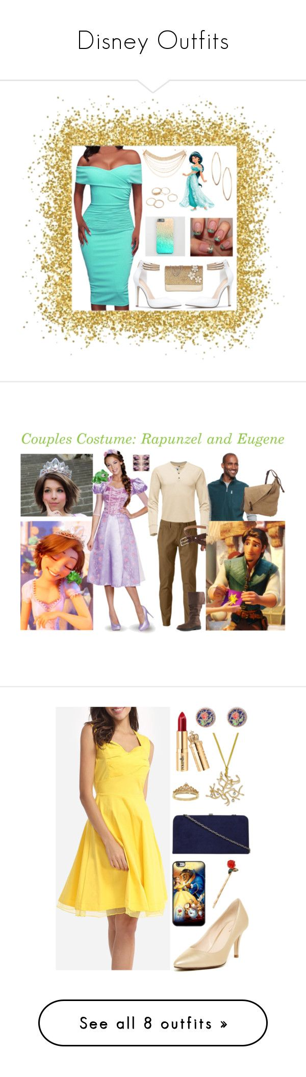 """""""Disney Outfits"""" by sbello ❤ liked on Polyvore featuring Lydell NYC, Disney, GUESS, modern, disney, jasmine, Disneyprincess, ModernJasmine, disneyjasmine and Croft & Barrow"""