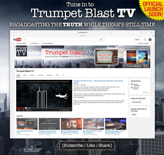 We're excited to announce that the official launch of Trumpet Blast TV is coming very soon! To celebrate the launch there will be an opportunity to win a copy of Trumpet Blast Warning and Beyond Earthly Realms! Be sure to stay on the lookout to see how! www.trumpetblasttv.co.uk