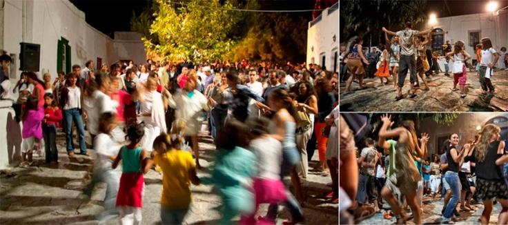 Dancing at the pasteli festival, Amorgos island