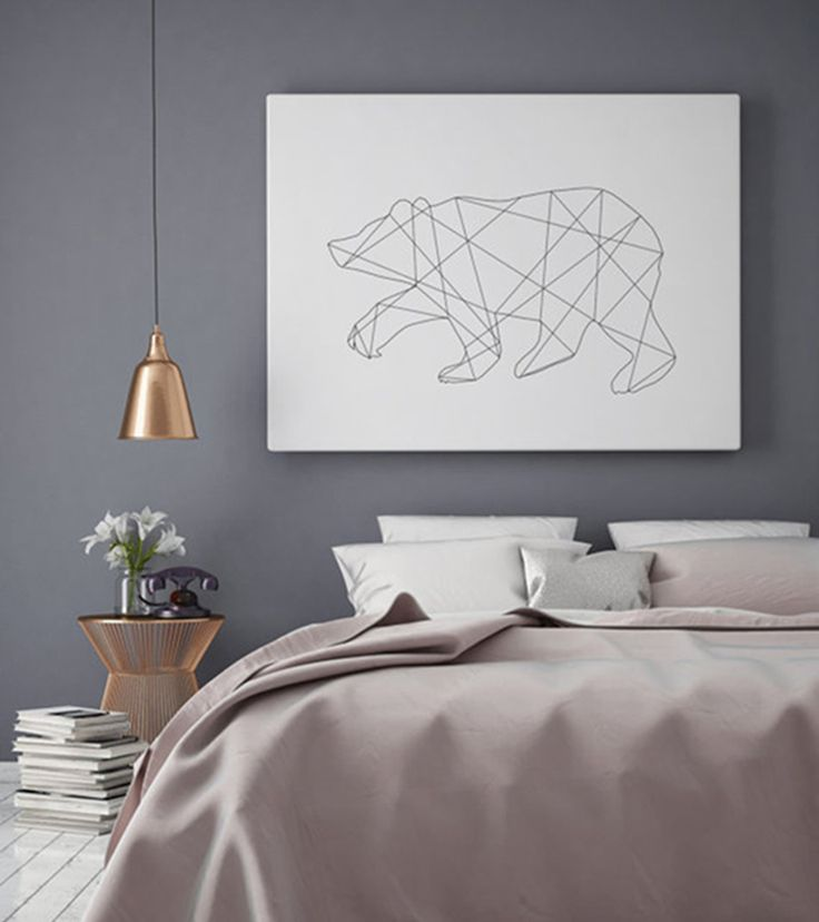 This geometric bear print won't do you any harm. We think it might even keep bad dreams away. In any case it's the perfect way to give your bedroom a clean yet dreamy atmosphere.