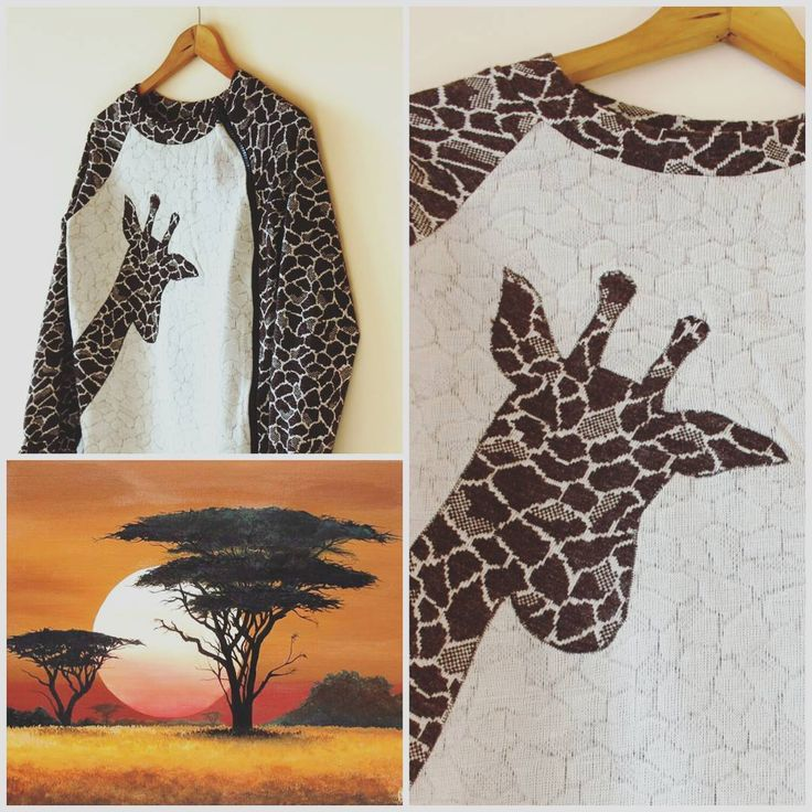 🎉 Ура! Мама-жираф уже готова! 👒   Ждем остальное семейство - папу 🎩, сына ⚽ и дочку 🎠...   Sweatshot for woman  #аппликация #ручнаяработа #дизайнер #коллекциясживотными