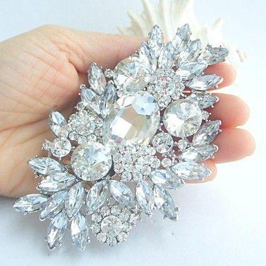 EUR € 26.67 - liga das mulheres do vintage com flor de cristal claro strass jóias de noiva bouquet broche, Frete Grátis em Todos os Gadgets!