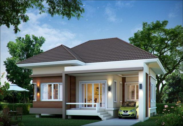 34 best front elevation images on pinterest facades for Small bungalow elevation