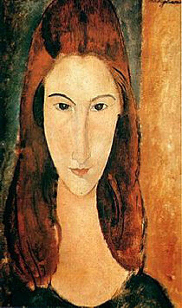 Ritratto frontale di Jeanne Hébuterne del 1919 di Amedeo ...