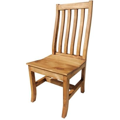 No more folding chairs!  This attractive solid wood chair is so affordable you can provide all your dinner guests with a real chair!  Combine it with one of our rustic tables for the southwestern look you desire, or use it as an accent piece in any room.  You'll appreciate the fine workmanship of our sturdy furniture, handmade in Mexico by skilled craftsmen.