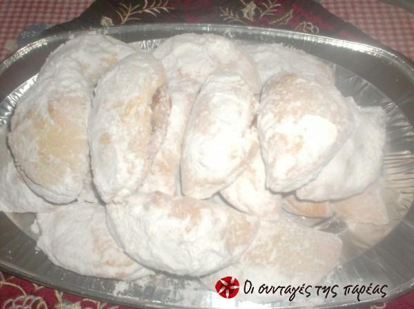 Skaltsounia (crescent-shaped pastries) #cooklikegreeks #skaltsounia