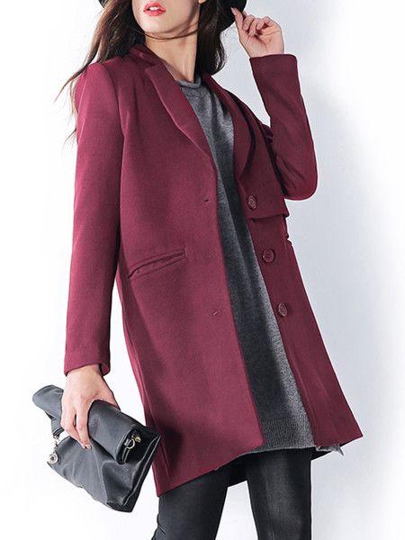 Paneled Polyester Long coat