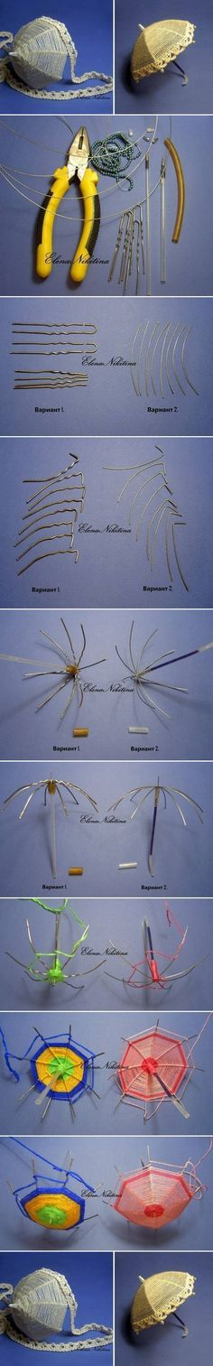 DIY Wire Small Umbrella DIY Projects