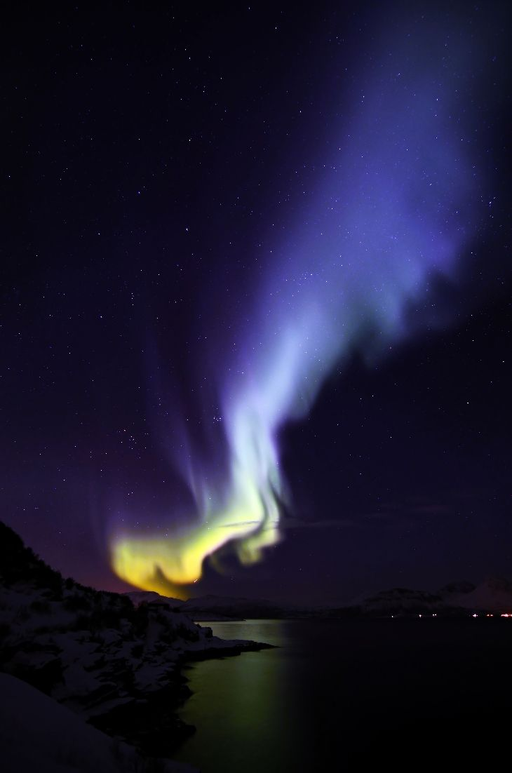 Aurora Flame  Taken by Micha on February 22, 2014 @ Straumfjord Norway