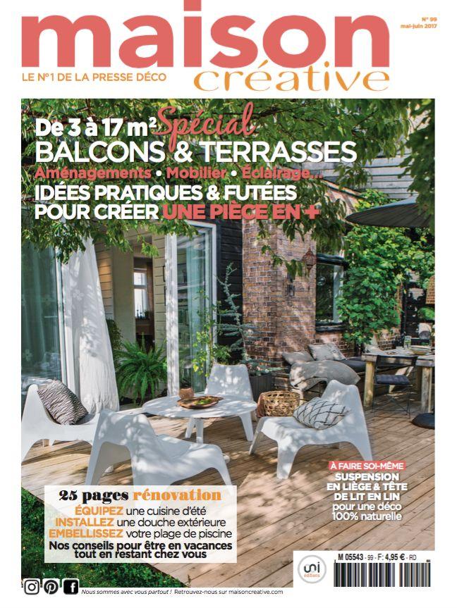 Magazine n°99 (mai-juin 2017). En kiosque. Dossier spécial balcon-terrasse